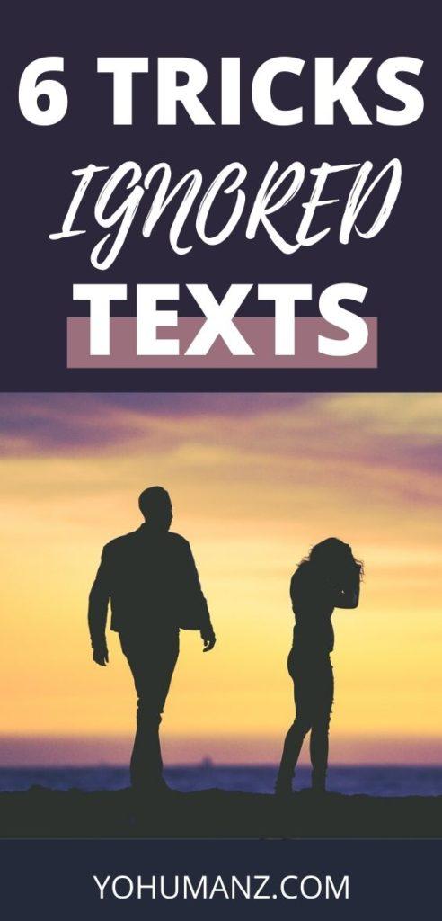 boyfriend ignoring texts