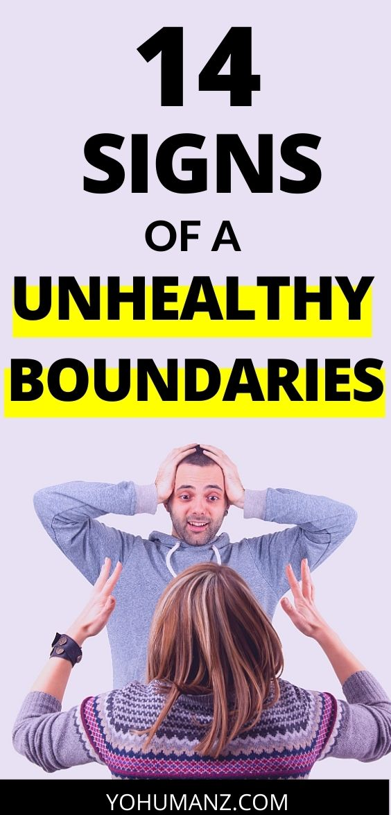 Signs of Unhealthy Boundaries