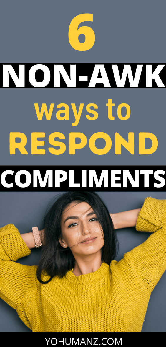 how to answer a compliment
