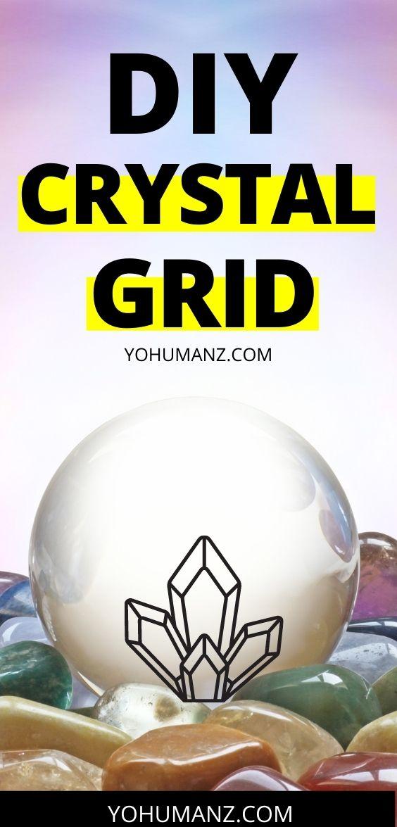 diy crystal grid for love
